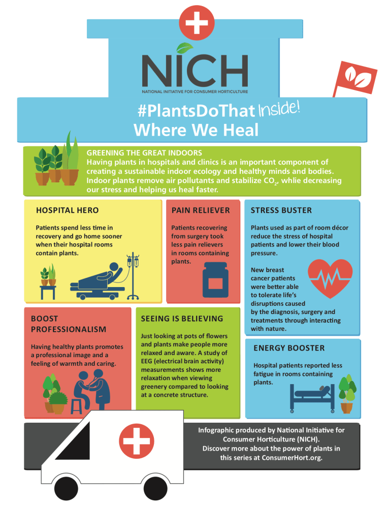 NICH Releases PlantsDoThat Inside Infographic #3: Where We Heal 2