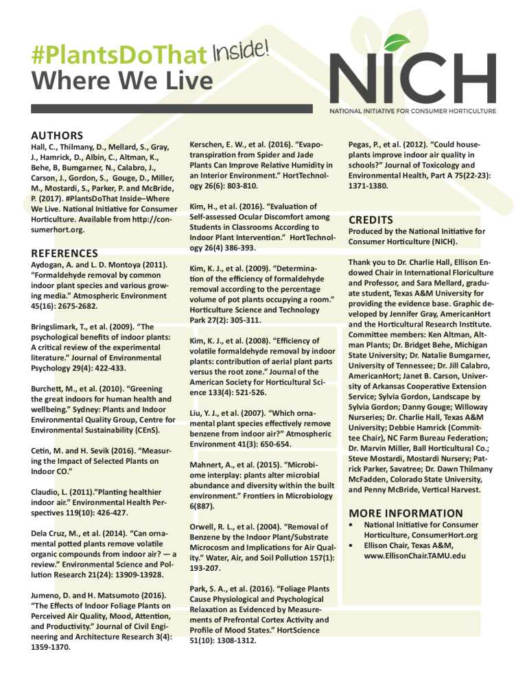 NICH Releases PlantsDoThat Inside Infographic #3: Where We Heal 3